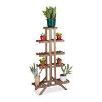 Blumentreppe 5 Ebenen – Schokobraun Pflanze