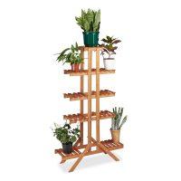 Blumentreppe 5 Ebenen – Honigbraun Pflanze