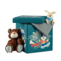 Sitzhocker für Kinder mit Stauraum – Tiger